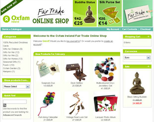 Oxfam Ireland Fair Trade Online Shop