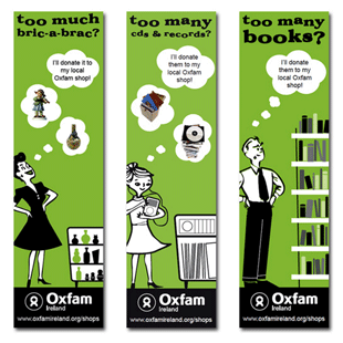 Oxfam Bookmarks