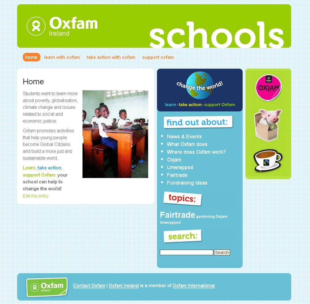 Oxfam Schools Website