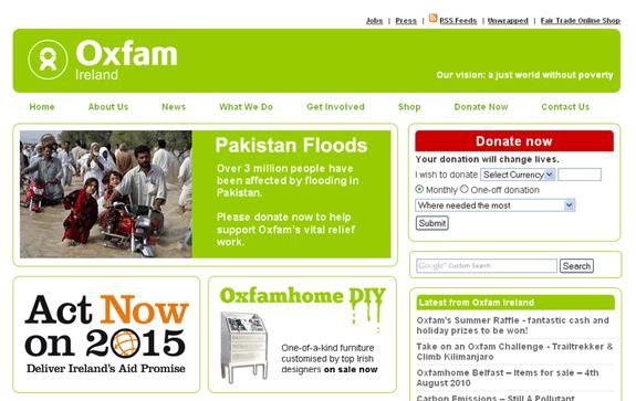 Oxfamireland.org Redesign