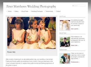 Peter Matthews Wedding Photography Website