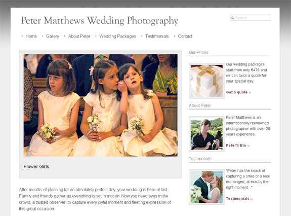 Peter Matthews Wedding Photography