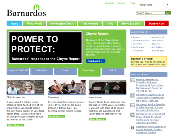 Barnardos.ie Redesign