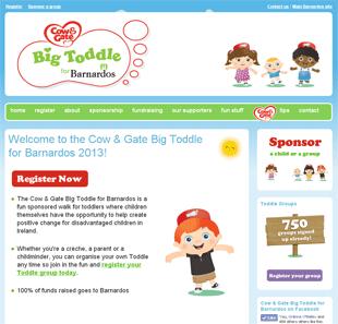 Barnardos Big Toddle Website