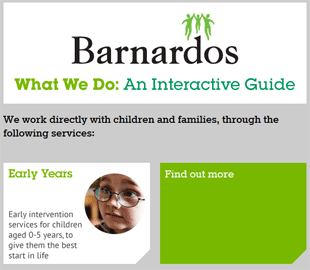 Interactive 'What We Do' Graphic for Barnardos