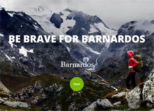Landing Page: Be Brave for Barnardos