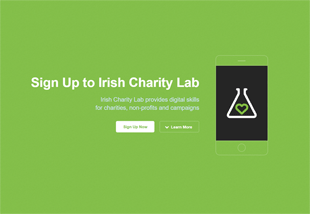 Landing Page: Subscribe to Irish Charity Lab